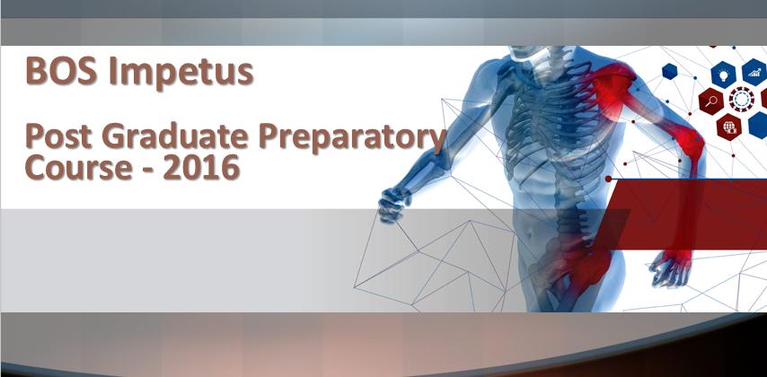 BOS Impetus - Post Graduate Preparatory Course - 2016