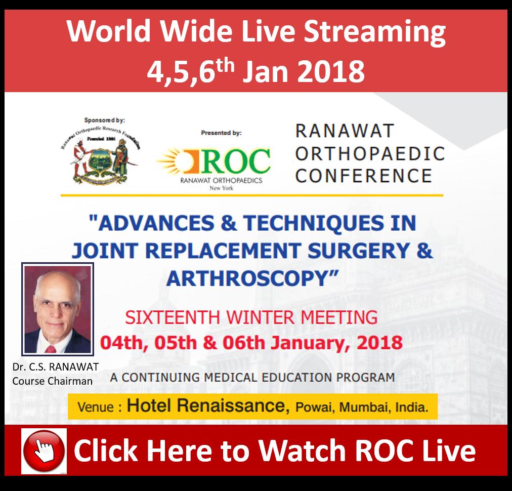 - roc live web - Ranawat Orthopaedic Conference 2017