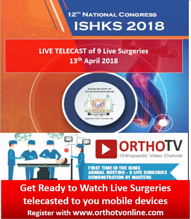 - ishks 2 - ISHKS 2018: Live telecast of Live Surgeries 13th April 2018
