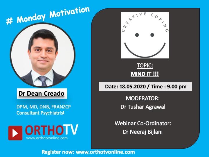 - dean monday motivation - Monday Motivation – MIND IT – Dr Dean Creado