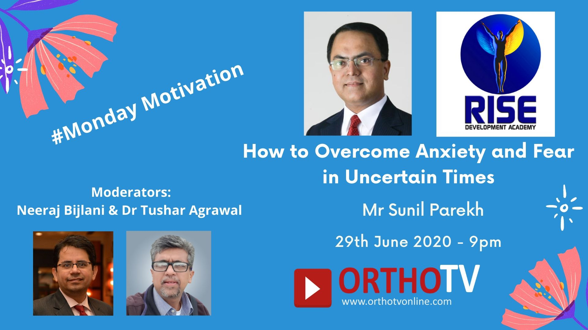 - motivation sunil parekh - Monday Motivation : How to overcome stress and anxiety during uncertain times – Mr Sunil Parekh
