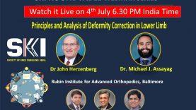 SKI Webinar: Principles and Analysis of  Deformity Correction in Lower Limb by Dr John Herzenberg