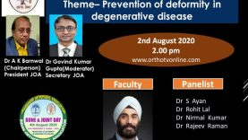 JOA Webinar: Prevention of Deformity in Degenerative Disease by Dr IPS Oberoi