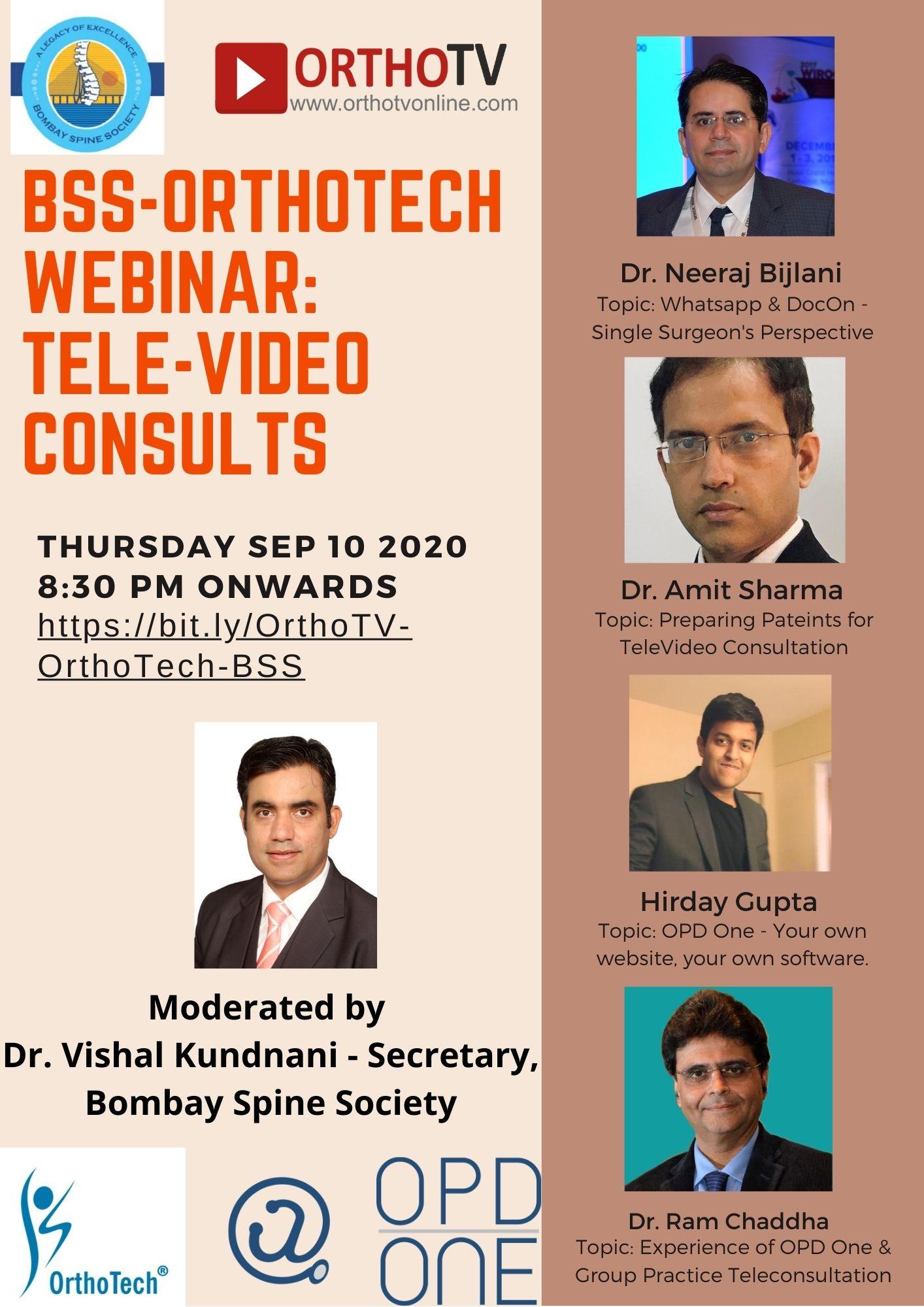 - bss orthotech webinar - BSS – OrthoTech Webinar on Tele-Video Consultation