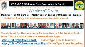 KOA(Karnataka Orthopaedic Association  ) – GOA ( Gujarat Orthopaedic Association ) Webinar