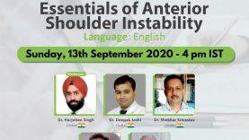 Webinar on Essentials of Anterior Shoulder Instability