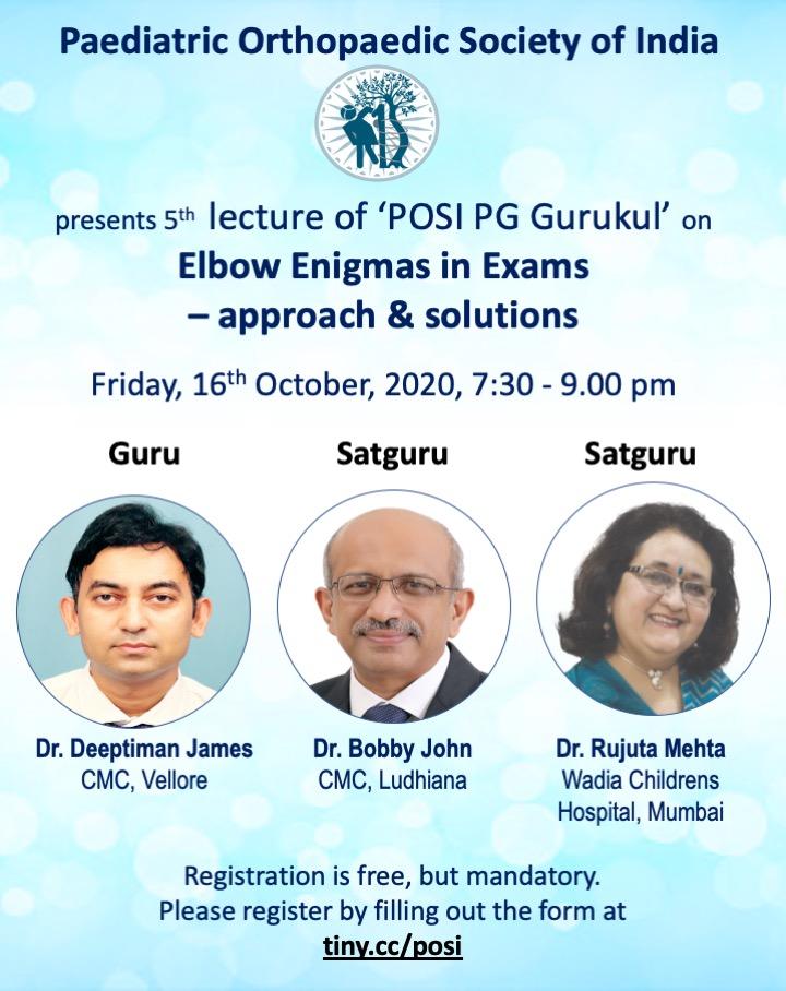 - Gurukul 5 - POSI PG Gurukul 5: Elbow Enigma in Exams – Approach & Solutions