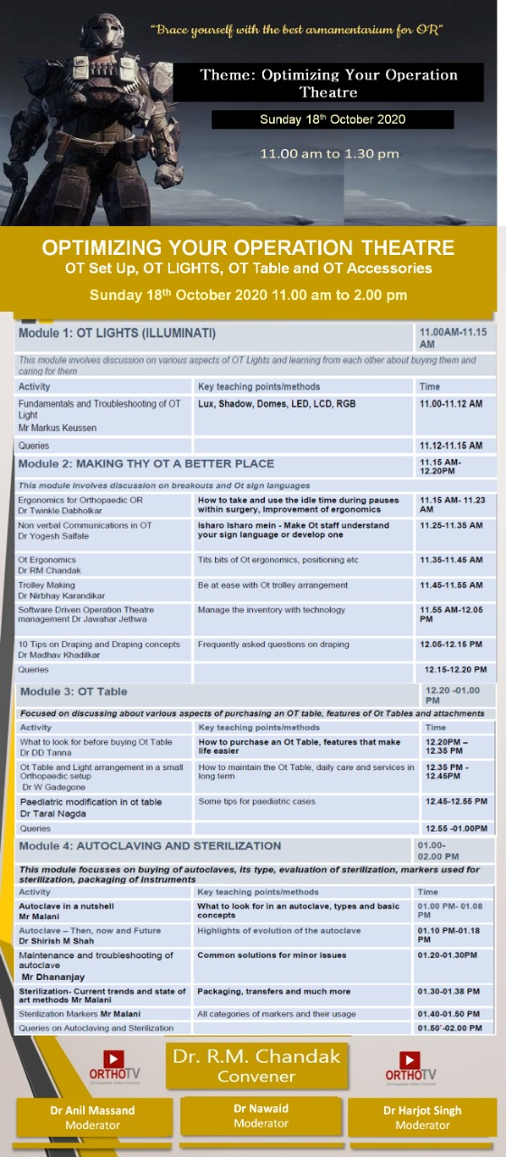 - WhatsApp Image 2020 10 17 at 3 - Ortho Armory 2: OPTIMIZING YOUR OPERATION THEATRE OT Set Up, OT LIGHTS, OT Table and OT Accessories