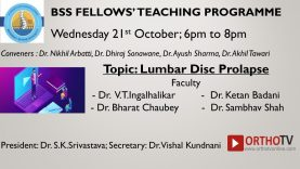 BSS Fellows Teaching Programme – Lumbar Disc Prolapse
