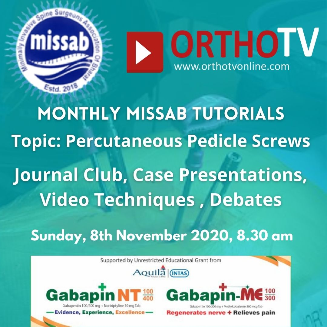 - missab 8th nov - MISSAB Tutorials – Percutaneous Pedicle Screws