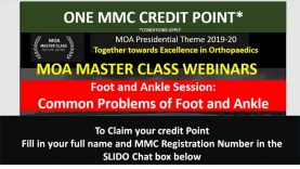MOA Master Class: Foot and Ankle Session:  Common Problems of Foot and Ankle
