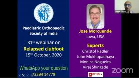 POSI Webinar 31: Management of relapsed clubfoot by Jose Morcuende with Panellists: Christof Radler, John Mukhopadhaya, Monica Nogueira, Viraj Shingade