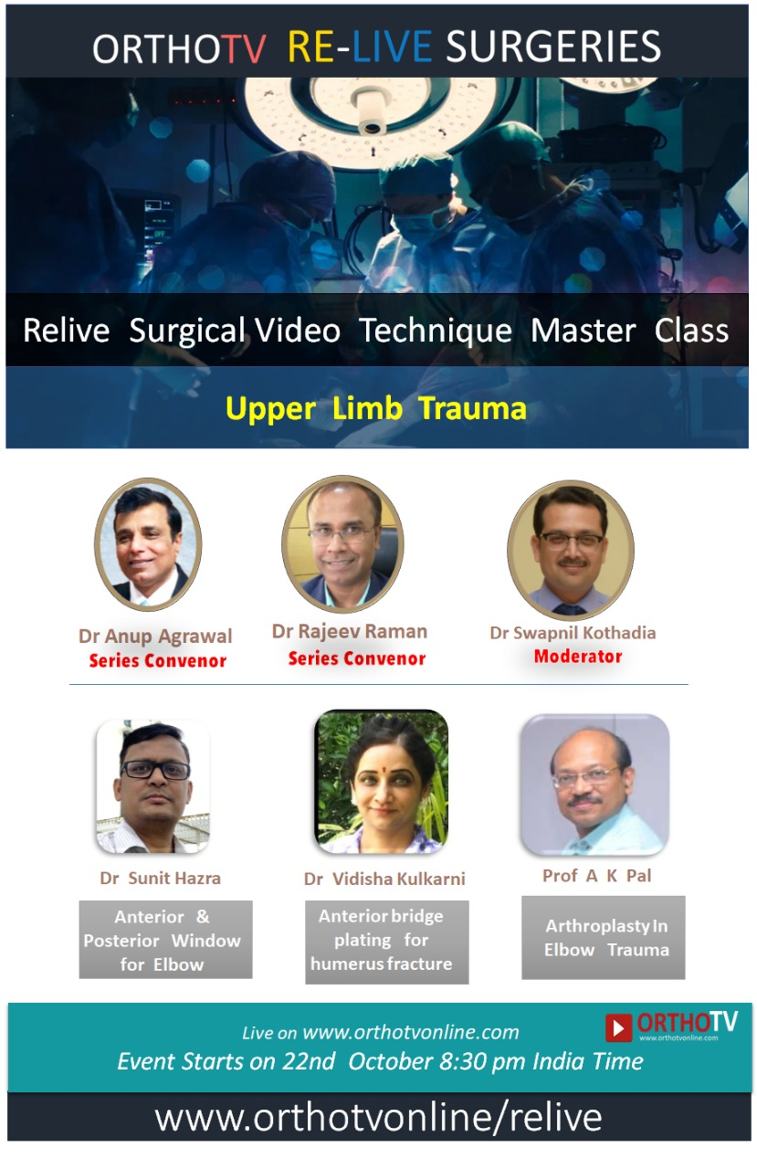 - relive 22 oct - Relive Surgical Video Technique Master Class – Upper Limb Trauma – Humerus and Elbow