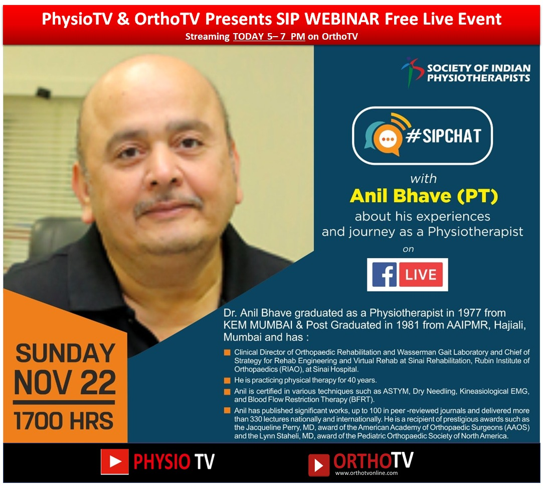 - WhatsApp Image 2020 11 22 at 11 - OrthoTV & PhysioTV : Presents SIP WEBINAR Free Live Event remarkable journey of Anil Bhave