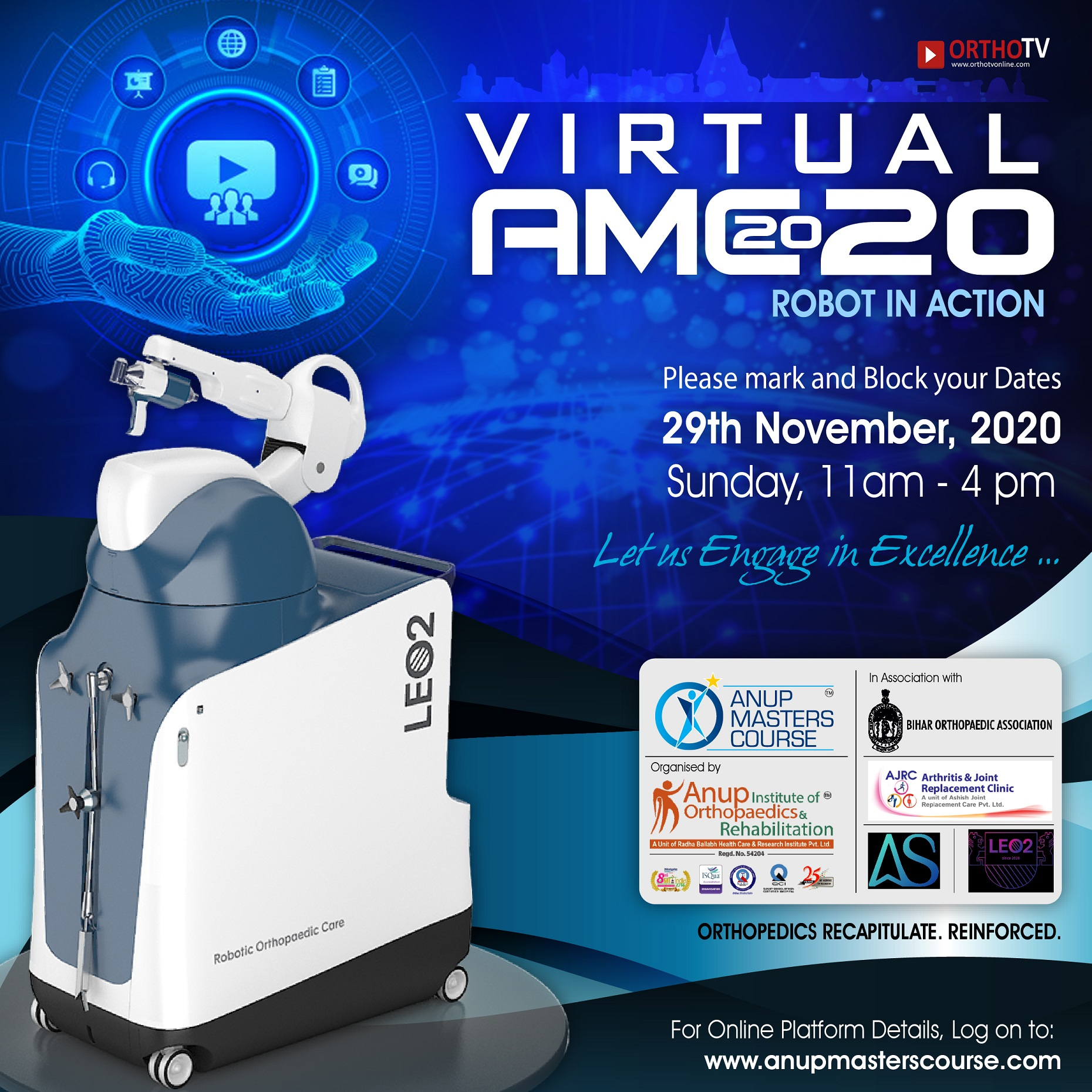 - amc2020 flyer square - Anup Masters Course 2020: ROBOT IN ACTION – Let's Engage in Excellence