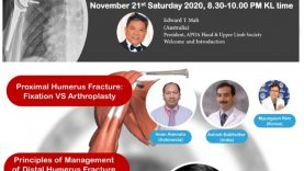 APOA Hand & Upper Limb Society Webinar: Management of Common and Complex Fracture in the Shoulder, Elbow & Wrist