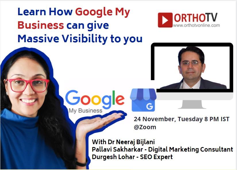 - gmb 24 november - OrthoTech and OrthoTV Presents Workshop on Google My Business