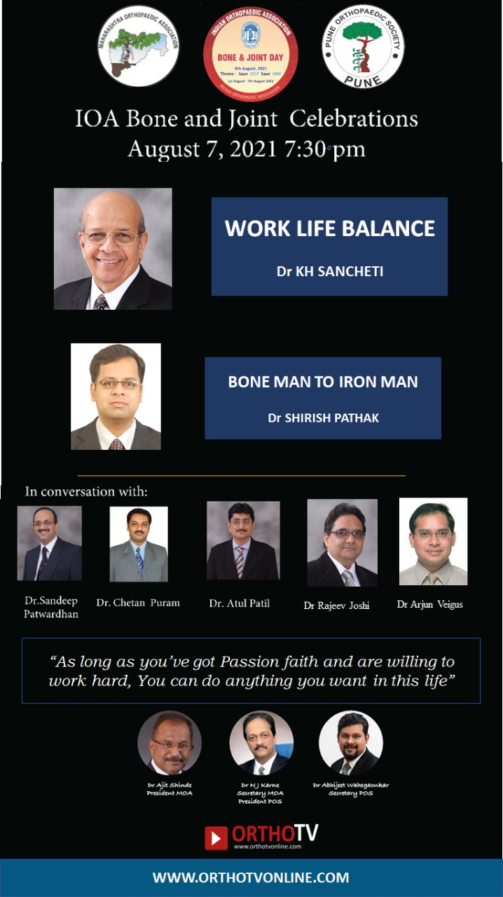 POS MOA BJD: Dr KH Sancheti Sir: Work Life Balance | Dr Shirish Pathak: Bone Man to Iron Man