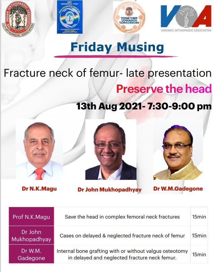 UPOA FRIDAY MUSING: Fracture Neck of Femur