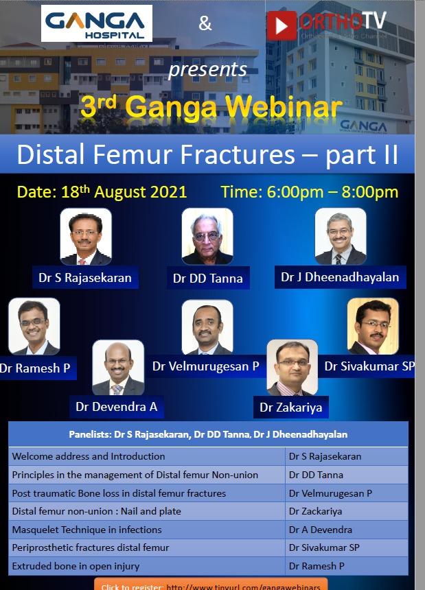 Ganga Hospital Webinar 3: Distal Femur Fractures - Part II