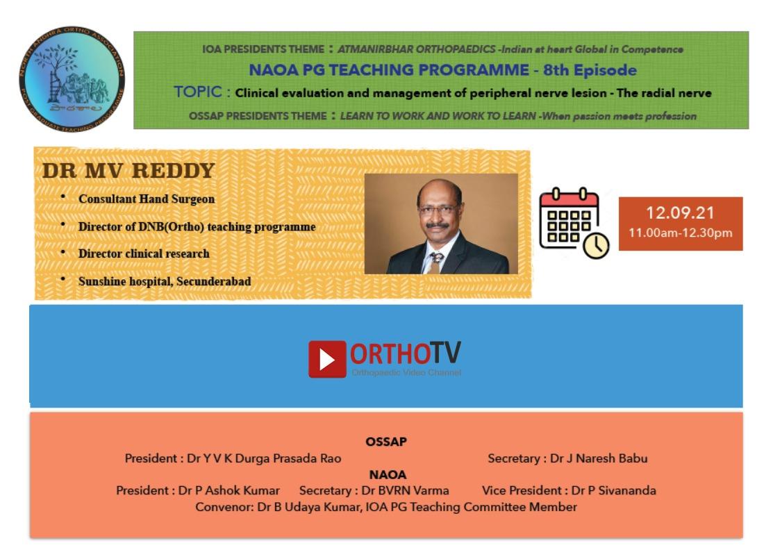 NAOA PG Paatshala: episode 8 Master class on Radial Nerve evaluation
